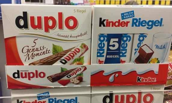 5er-Packung Duplo und Kinder Riegel Ferrero