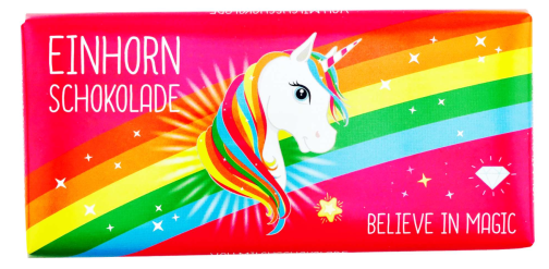 Einhorn Schokolade Believe in Magic Regenbogen