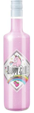 """Aus der Kategorie """"Und was es noch so gibt"""" stammt dieses Einhorn-Produkt: Ein rosafarbener Erdbeer-Sahne-Likör namens """"Happy End""""."""