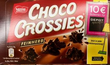 Choco Crossies mit feinherber Schokolade.