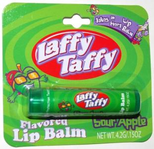 Laffy Taffy war das jetzt ein Karamellding oder Fruchtgummi? Wer weiß es? Ich habe es vergessen - sollte mal die Lippenpflege bestellen und ausprobieren...