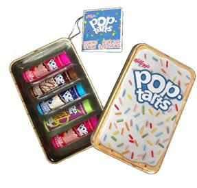 Wie bei Peeps gibt es auch bei Poptarts viele Sorten und in diesem Set sind die besten Fünf als Lippenstift enthalten.