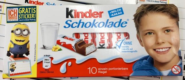 Kinderschokolade Minions