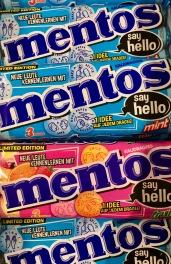 Mentos Say Hello Sprüche Mint und Fruit