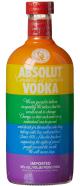 Absolut Wodka-Flasche im Regenbogen-Desgin