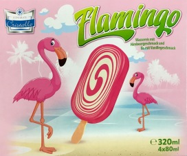 Flamingo Eis am Stil Netto