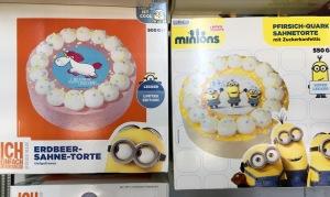 Minions Einhorn Torte
