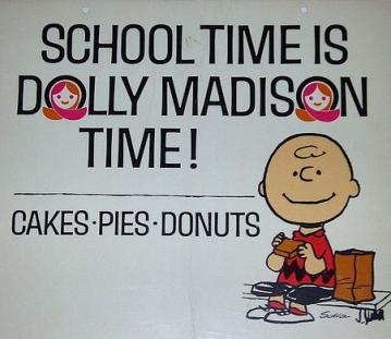 Dolly Madison Werbung Charlie Brown