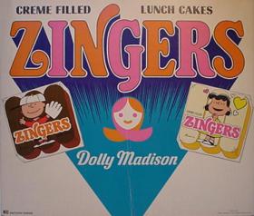Jede Figur der Peanuts stand für eine Sorte der Zingers.