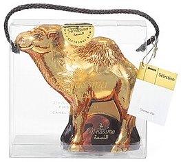 Kamelfigur als Schokoladenhohlform von Migros mit Kamelmilch-schokolade