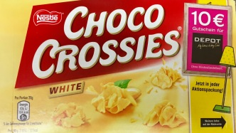 Nestle Choco Crossies White Werbung Depot