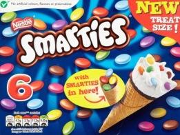 Nestle Smarties Eistüten 6er Packung