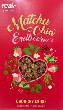 real Matcha Chia Erdbeer Crunchy Müsli