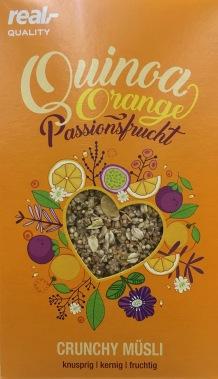real Quinoa Orange Passionsfrucht Crunchy Müsli