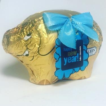 Riegelein Glücksschwein Schokolade Neujahr