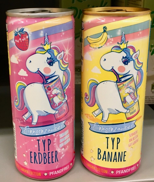 Einhornzauber Drink Erdbeer Banane