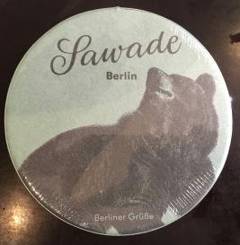Sawade Pralinen Schatel rund Bärmotiv Schokolade