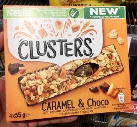 Nestle Clusters Caramel und Choco