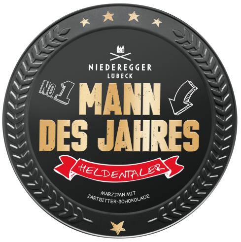 Niederegger Mann des Jahres Medaille Schokolade Marzipan