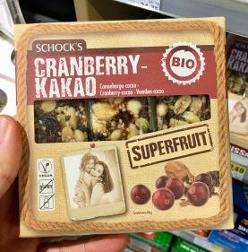 Schock's Cranberry Kakao Müsliriegel