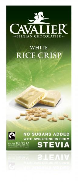 Cavalier Schokolade White Rice Crisp Stevia ohne Zucker