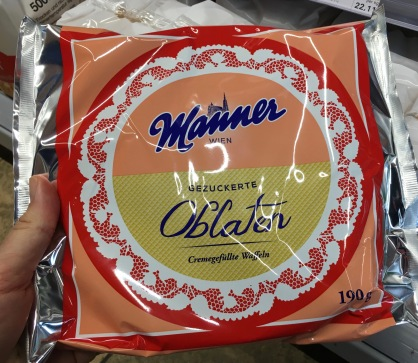 Manner Oblaten gezuckert